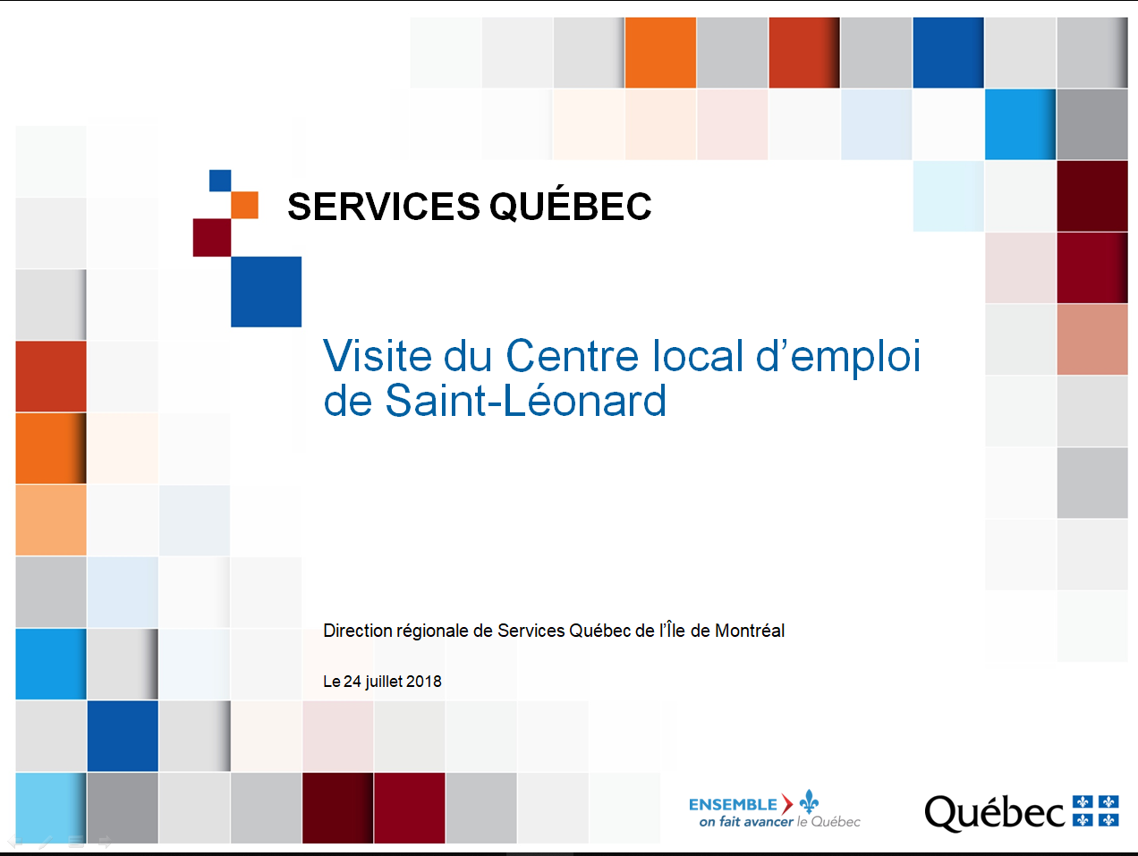 Présentation des services du CLE Anjou/Saint-Léonard